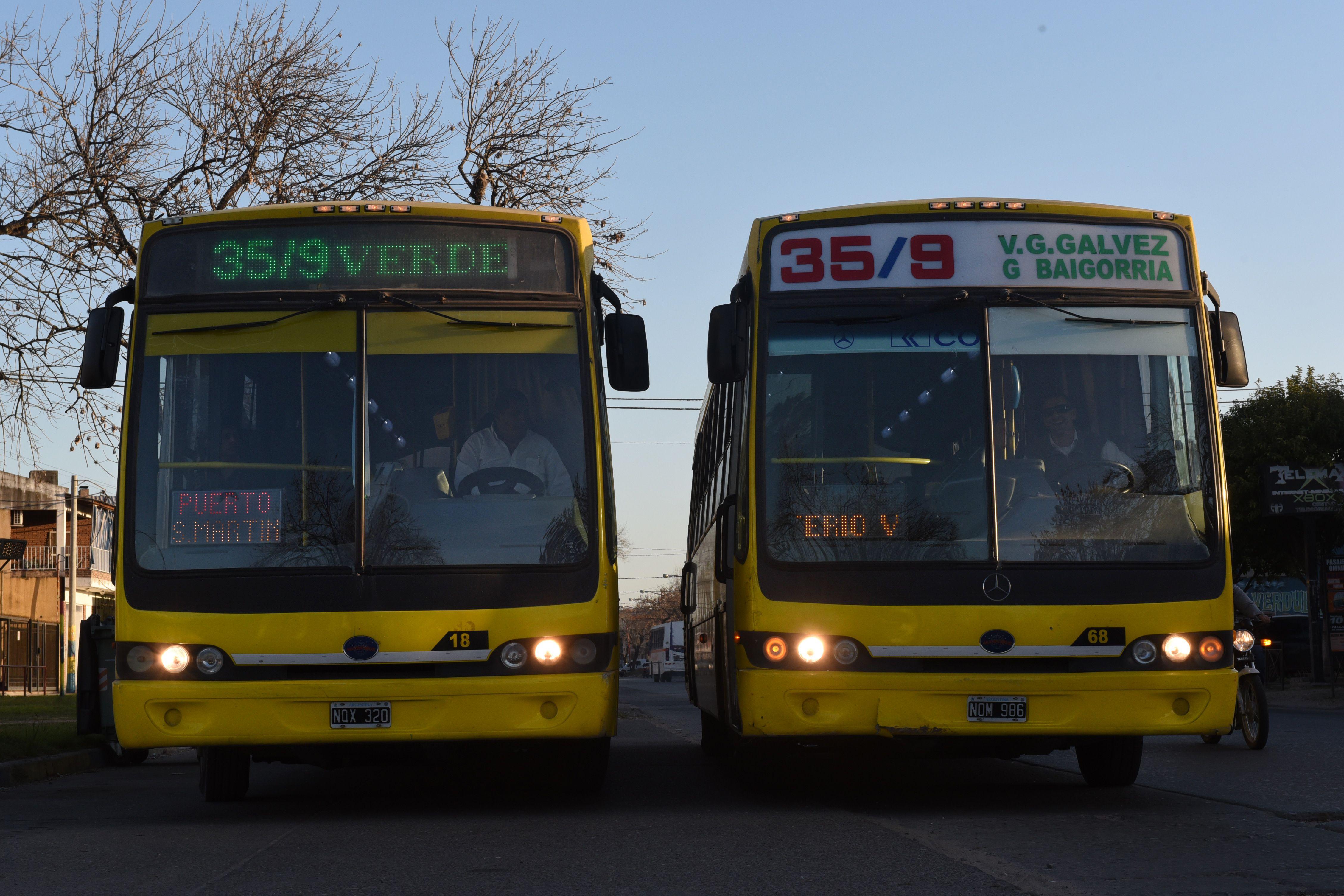 Los choferes de Rosario Bus