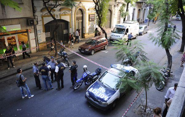 Pleno centro. El 5 de febrero de 2013 dos sicarios atacaron a un médico en su clínica y mataron a un policía al salir. (foto: Celina Mutti Lovera)