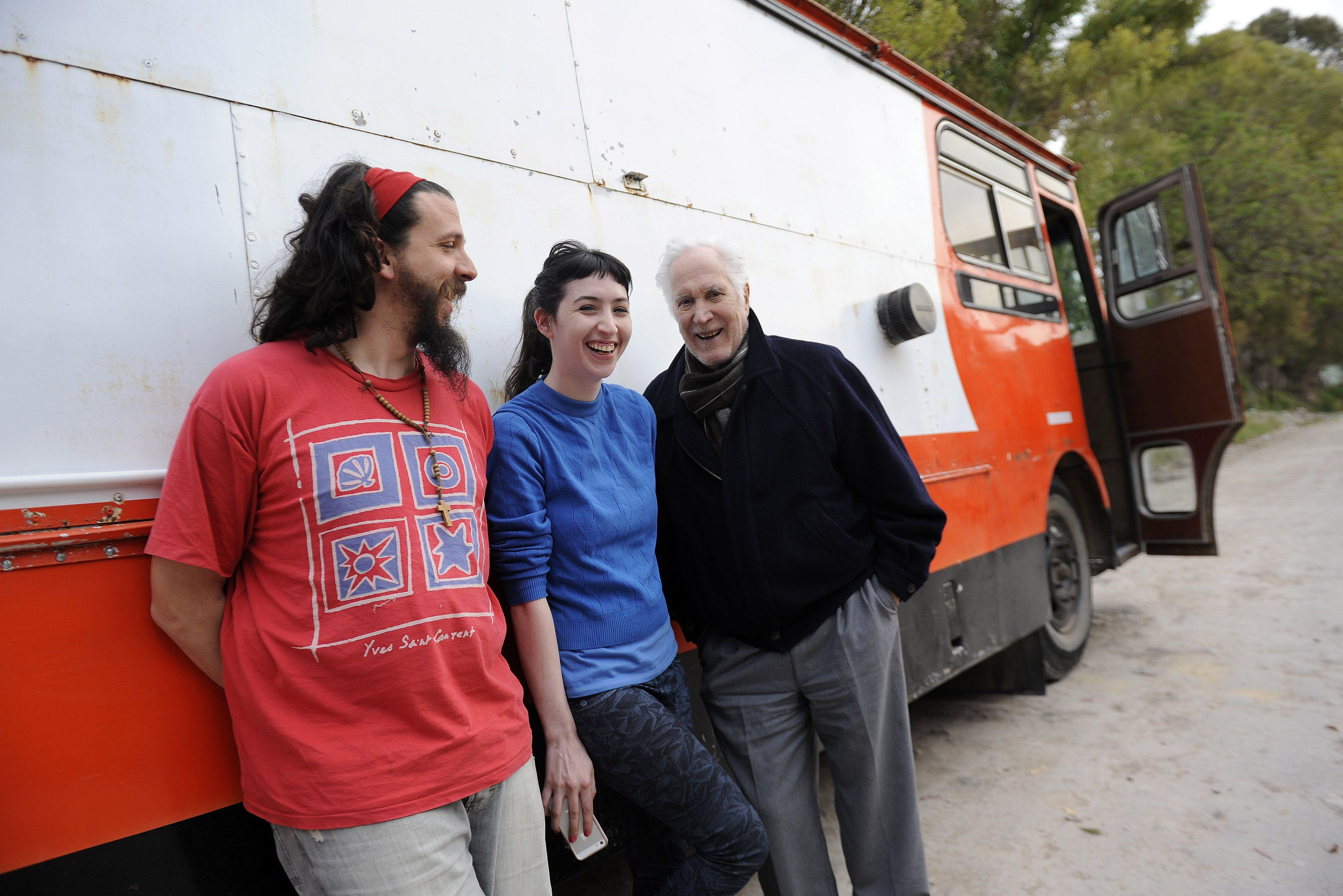 Equipo. Sofía Gala y Federico Luppi junto al director Sergio Mazza. (H.Rio)