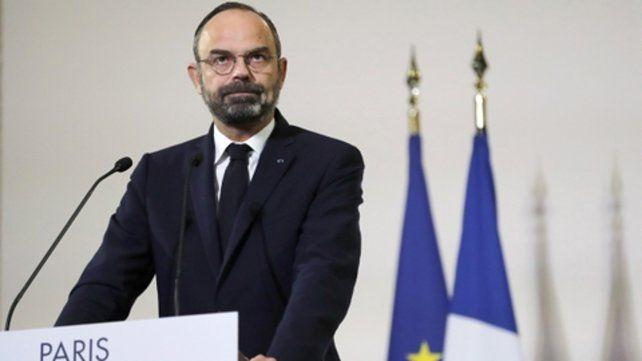 anuncio. El premier Edouard Philippe al hablar ayer en París.