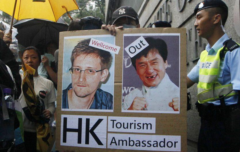 Topo oculto. En Hong Kong hubo marchas a favor del asilo de Snowden.