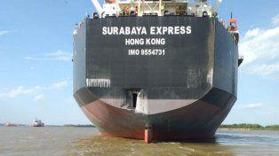 Video: impactante choque de un barco contra un muelle en San Lorenzo