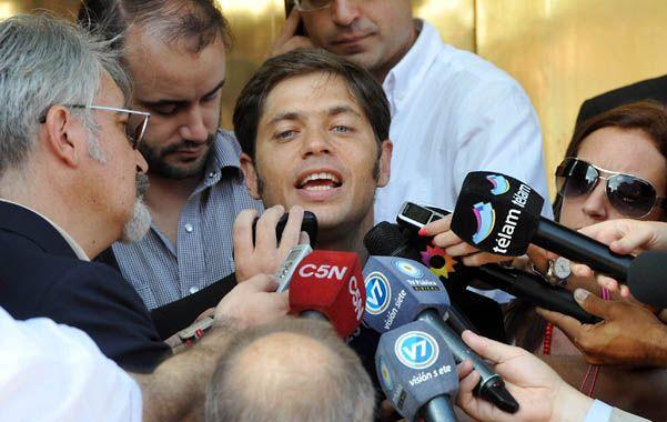 Bajar el tono. Axel Kicillof indicó que Cristina Fernández está con un excelente estado de ánimo.