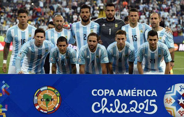 La selección argentina que disputó la Copa América en Chile
