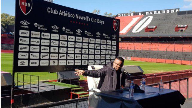 """Gamboa dijo sentirse """"exageradamente feliz"""" por su retorno al club de sus amores. Foto: Celina Mutti Lovera"""