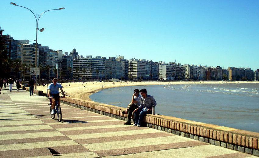 La rambla de Montevideo.
