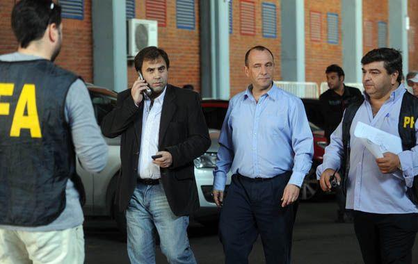 En el Pedro Bidegain. Efectivos judiciales y policiales se hicieron presentes en el estadio de San Lorenzo.