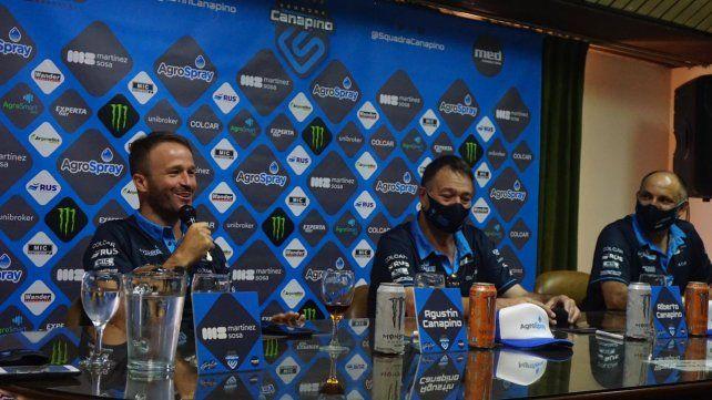 Con nombre propio. La Squadra Canapino se lanzó con Agustín, Alberto y Mauro Medina, y gran apoyo rosarino.