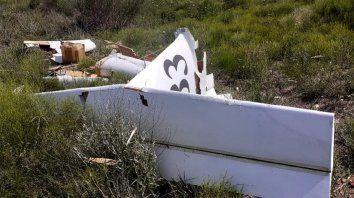 El piloto que tripulaba la avioneta perdió la vida. (Foto: gentileza de Portal Pérez)