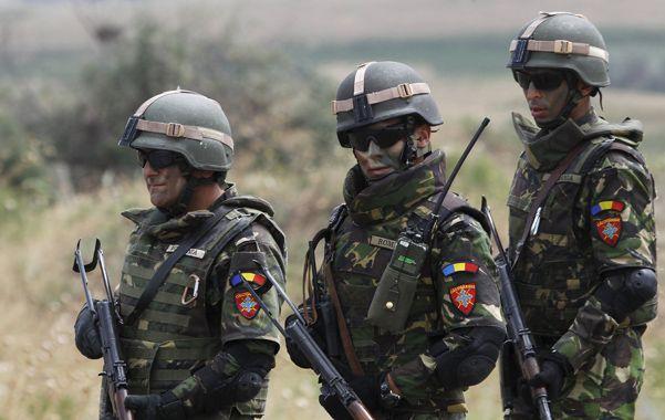 Juegos de guerra. Soldados rumanos durante las recientes maniobras conjuntas de la Alianza Atlántica en Georgia.