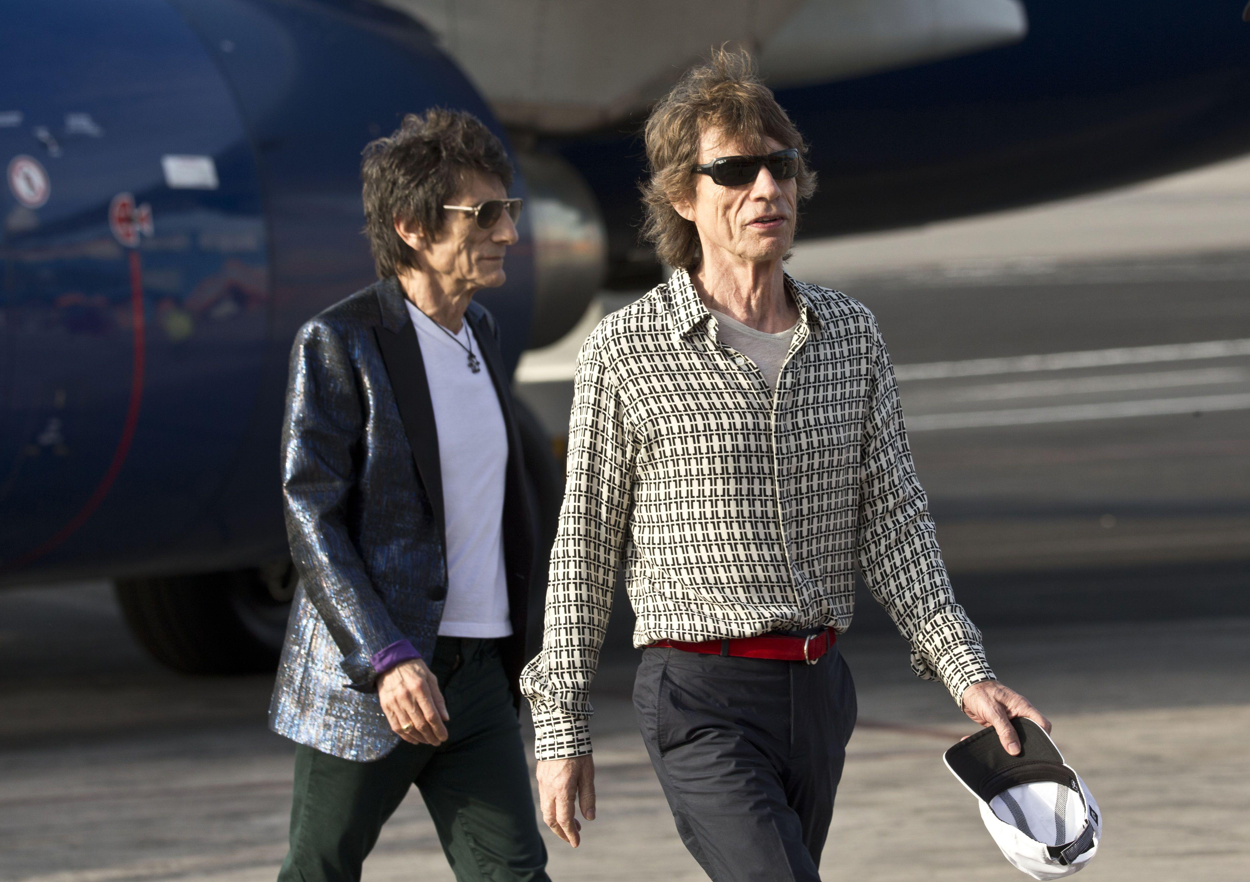 Jagger y Wood en tierra cubana. El show es esta noche.