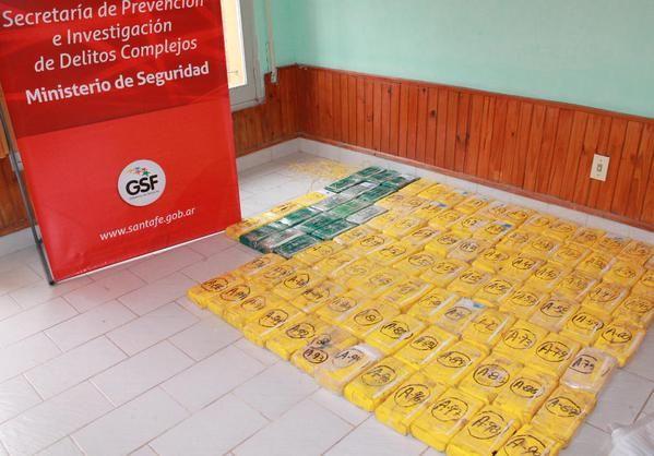 El cargamento secuestrado anoche en el norte de la provincia. (Foto: Prensa Santa Fe)