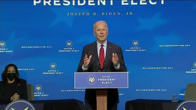 PREPARATIVOS. Joe Biden este martes al presentar sus equipos de salud.