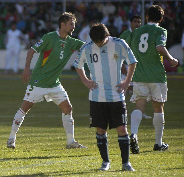 El 1º de abril de 2009, fue Messi fue titular en dolorosa goleada 6-1 a favor de Bolivia.