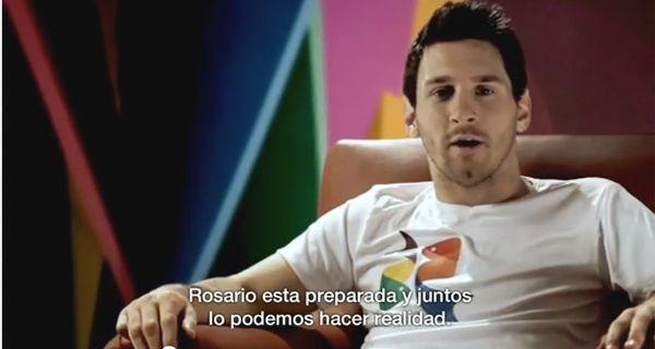 Messi promociona los Juegos Panamericanos y pide a los rosarinos que se sumen al sueño