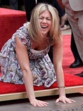 Jennifer Aniston en el Paseo de la Fama