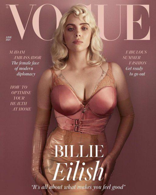 La cantante en la tapa de la edición británica de Vogue.