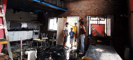 Se incendió una casa en zona oeste pero no se registraron heridos