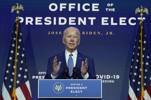 El demócrata Biden enfrenta el desafío de aplacar la crisis del Covid.