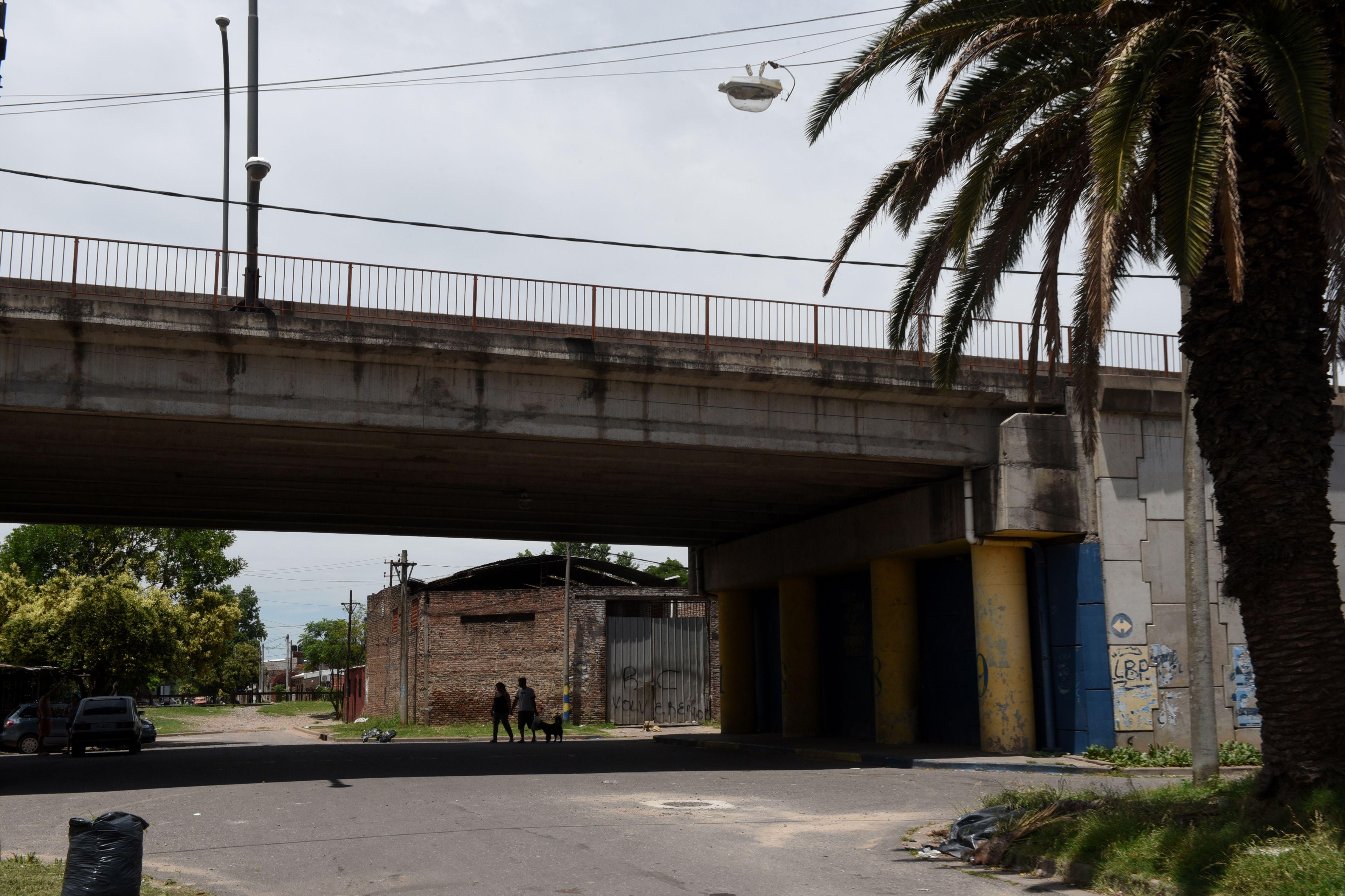 Bajo el puente. La persecusión terminó debajo del viaducto Che Guevara. (Celina Mutti Lovera / La Capital)