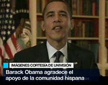 Obama habló a los hispanos en un mensaje bilingüe en entrega de premios a la música