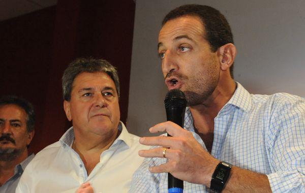 Sukerman en las elecciones de ayer junto a Luis Rubeo