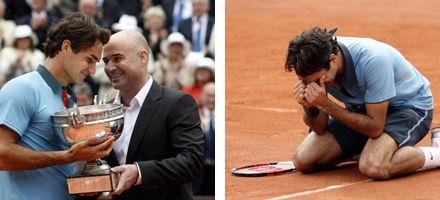 Federer ganó en Roland Garros y casi no le quedan records por batir