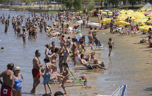 Un susto. El ofidio apareció justo un fin de semana de extremo calor en el que 11 mil personas confluyeron en La Florida.