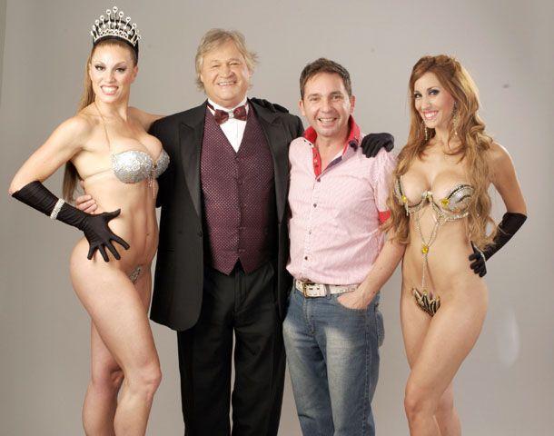 La vedette Silvana Michelini acompañada del cantante Rubén Matos