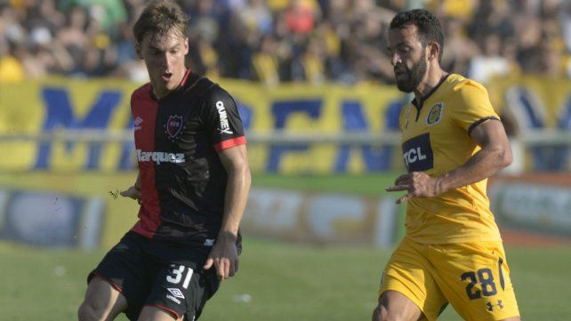 Cacciabue y Gamba en el último clásico en el Gigante.