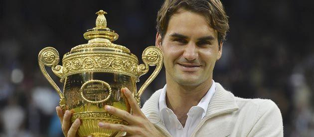 La Copa del Rey. Roger venció a Murray en la final y sumó su séptimo título en el césped británico.