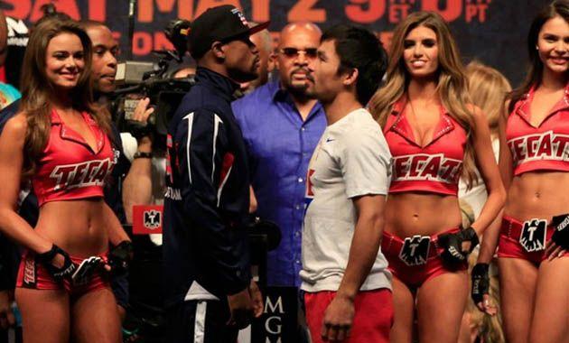 Ambos boxeadores se subieron a la balanza en el último encuentro cara a cara previo al combate del año.