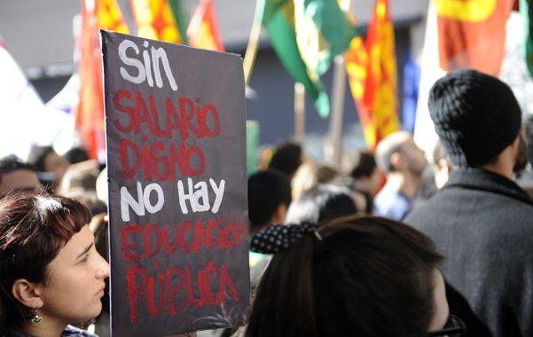 Disgusto. La sede del Rectorado fue epicentro de protestas esta semana.