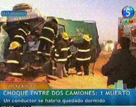 Zavalla: un muerto y un herido tras violento choque de camiones en la ruta A012