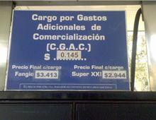 Una estación de servicio de Rosario ya cobra un plus de 0,14 por litro de nafta