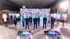 Equipo. El presidente, junto a los funcionarios del área económica hizo el anuncio en el marco del programa Argentina contra el Hambre.
