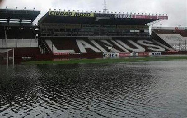 Lanús sufrió las consecuencias del temporal.