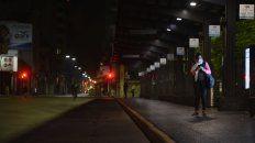 Las plataformas de la mini terminal de la plaza Sarmiento seguían desiertas a la espera del regreso de las unidades.