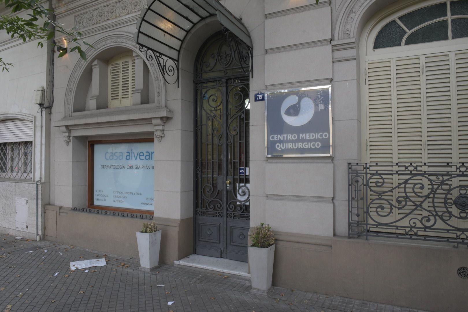 La clínica asaltada ayer a la tarde. (Foto La Capital: Sebastián S. Meccia)