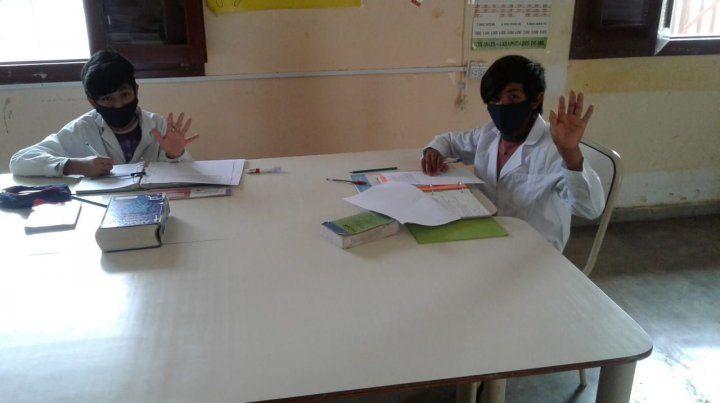 Volver a clases fue muy emotivo para los chicos y para los maestros