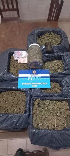 La droga incautada fue remitida a la Agencia de Inteligencia Criminal Región II donde el chico quedó detenido.