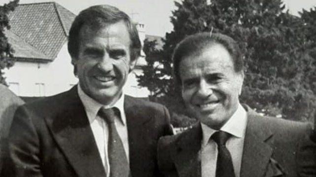 Carlos Menem y Reutemann en Olivos en septiembre de 1991 cuatro días antes de ganar la elección a gobernador.