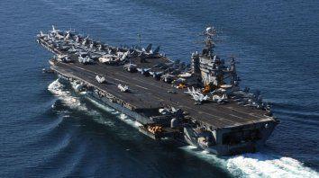 El portaaviones Theodore Roosevelt. Estas naves son clave en el despliegue militar global de EEUU.