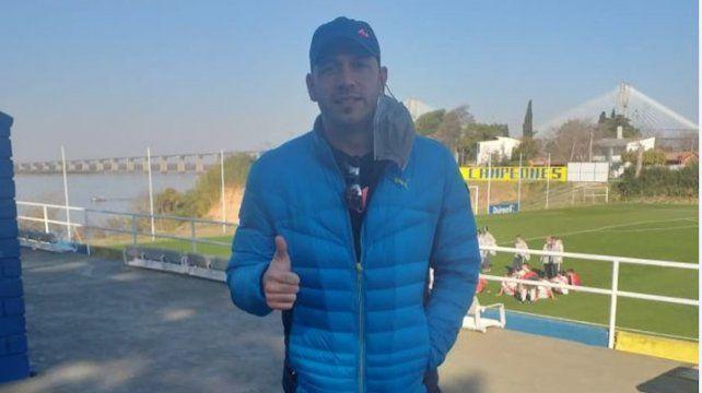 A Jorge Broun se lo vio feliz en la ciudad deportiva.