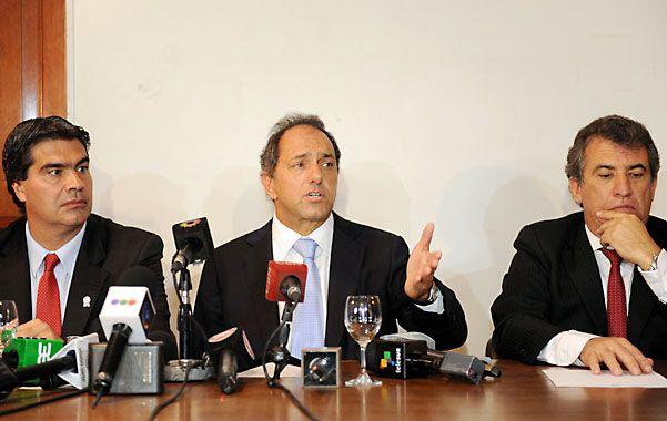 Para 2015. Capitanich y Scioli están en carrera para las presidenciales.