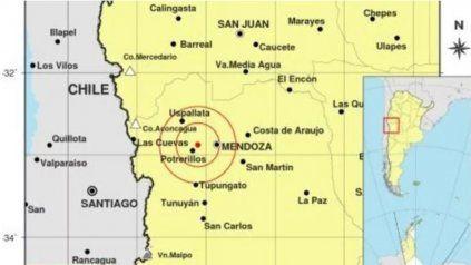 Dos sismos de casi 5 grados sacudieron a la zona de Mendoza