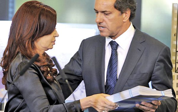 Todo olvidado. Cristina Fernández y Daniel Scioli