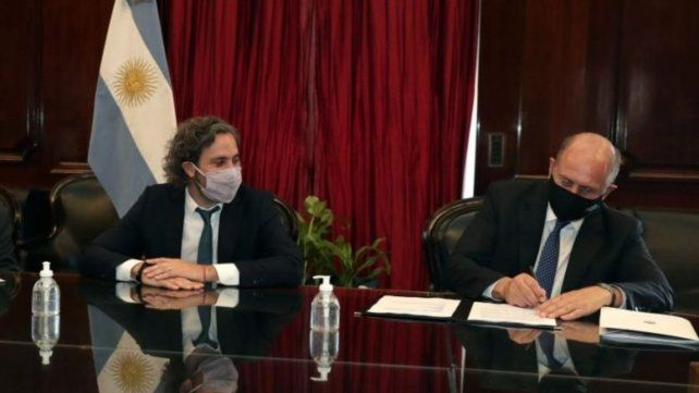 Cafiero inaugura con Perotti un dispositivo de contención social en Santa Fe
