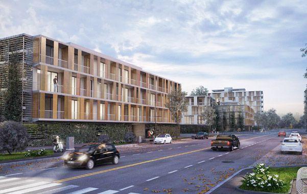 Imagen virtual. La provincia aporta el suelo y el privado los fondos para las unidades habitacionales.