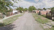 La zona de 6 de enero al 700, en Granadero Baigorria, donde se produjo el primer crimen del año en el departamento Rosario.